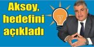 Aksoy: Urfa'ya hizmet için varım