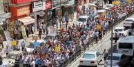Urfa'dan İsrail'e lanet yağdı