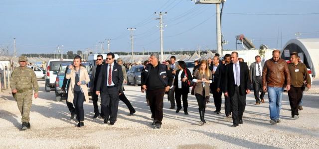 UNESCO heyeti çadır kenti ziyaret etti