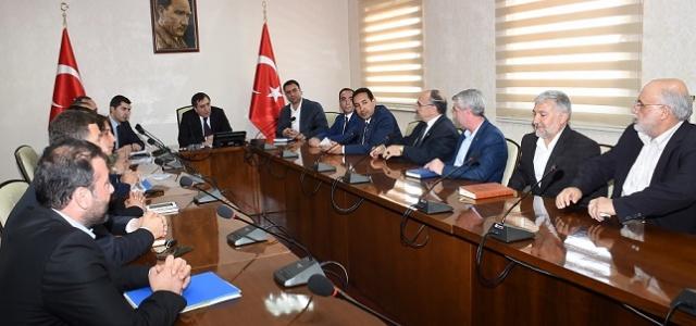 Valilikte seçim toplantısı yapıldı