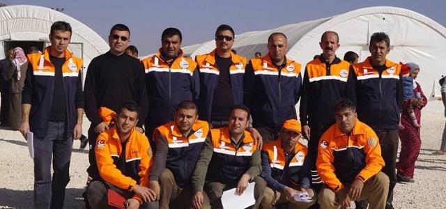 Van AFAD ekibi Suruç'ta