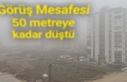 Karaköprü'de sisten göz gözü görmüyor