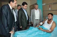 MHP heyeti yaralılara moral verdi...