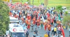Urfalılar Darbeye karşı yürüdüler