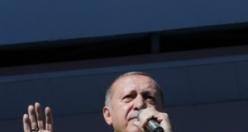 Erdoğan'ın mitinginden renkli görüntüler