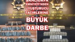 Urfa'da uyuşturucu tacirlerine büyük darbe