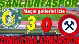 Şanlıurfaspor-Zonguldak Kömürspor maçının özeti