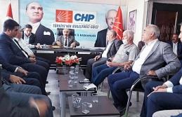 CHP Urfa teşkilatı, ilçe başkanlarıyla toplantı...