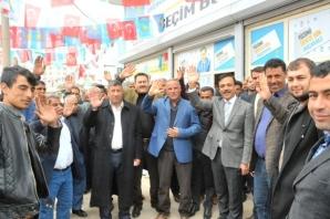 İYİ Parti Akçakale Adayı Ömer Ay seçim bürosu açılışı
