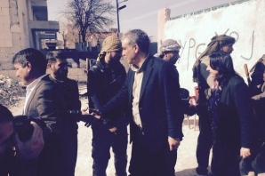 İbrahim Ayhan ve İbrahim Binici Kobani'de
