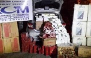 18 bin paket kaçak sigara ele geçirildi