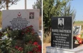 Şehit ve terörist aynı mezarlıkta !