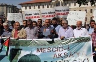Sivas'ta Mescid-i Aksa Protestosu