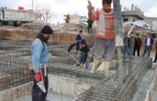 Akçakale'de 147. taziye evinin temeli atıldı