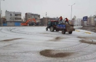 Urfa'da bakın kar için kaç ton tuz kullanıldı?