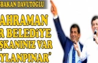 Başbakan Davutoğlu, Atilla'ya övgüler yağdırdı