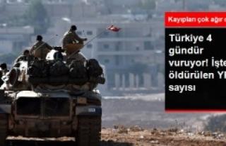 Türkiye'nin YPG'ye saldırısında alınan...