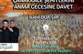 AK Parti Eyyübiye İlçe teşkilatı, Çanakkale...