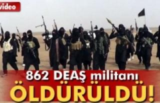 862 DEAŞ'lı öldürüldü!