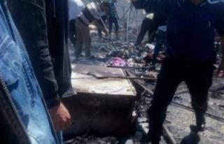 Çadır kentte korkutan yangın