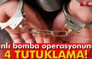 Canlı bomba operasyonunda 4 kişi tutuklandı