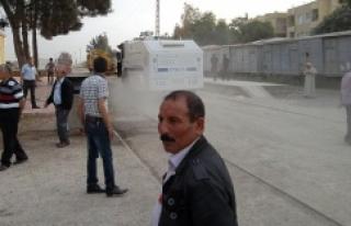 Urfa-Suriye sınırında yangın!