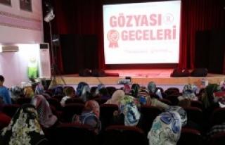 Eyyübiye'de gözyaşı geceleri etkinliği