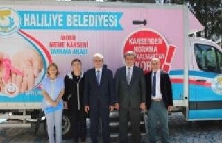Haliliye'ye mobil kanser tarama aracı