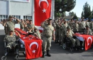 Urfa'da engellilerin askerlik heyecanı