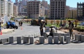 Urfa'da caddelere estetik dokunuş