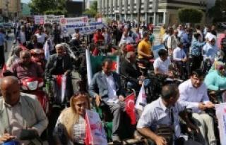 Urfa'da engelsiz kortej yürüyüşü