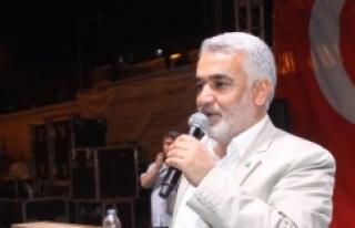 Hüda-Par Başkanı Demokrasi nöbetine katıldı