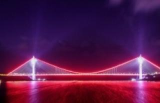 Bugün açılışı yapılan köprü de muhteşem...