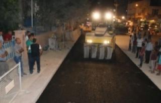 Suruç'ta ilk asfalt serimi başladı