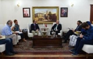 BM heyetinden Vali Tuna'ya ziyaret