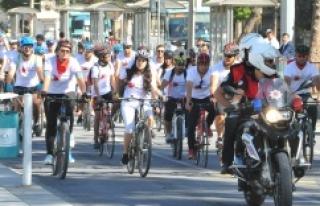 'Dünya Kalp Günü' için pedal çevirdiler