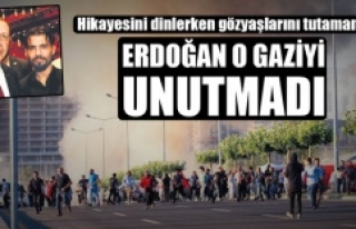 Erdoğan gözyaşlarını tutamadı