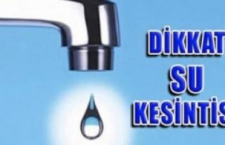Urfa'da 2 gün sular kesilecek