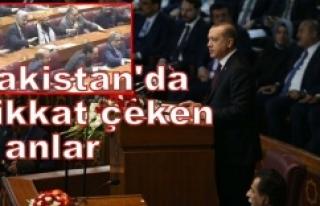 Erdoğan'ın konuşması sırasında...