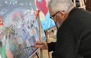 70'lik ressam bakın ne çizdi?