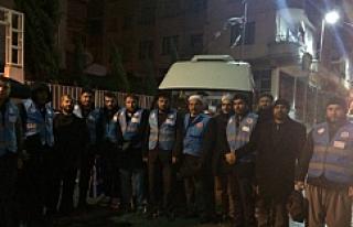 İdlib'e gönderilen 20 kişilik ekip bölgeye...