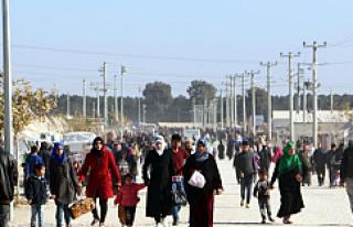 """Suriyeli sığınmacılar yeni yılda """"barış""""..."""
