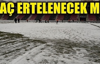 Urfaspor'a kar sürprizi…