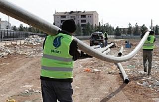 Suruç'ta alt yapı çalışmaları devam ediyor