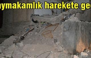 Hilvan'da evler yıkıldı