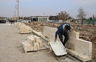 İlçe mezarlıkları onarılıyor
