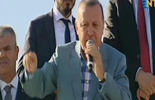 Erdoğan Ceylanpınar'da konuştu…