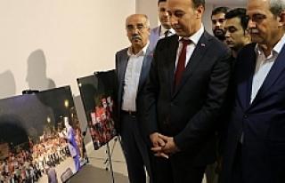 Demokrasi sergisinin açılışı yapıldı...