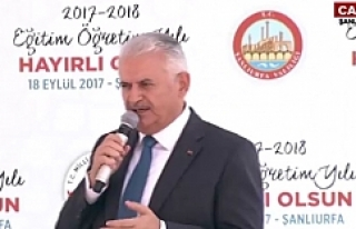 Başbakan Yıldırım Urfa'da konuştu
