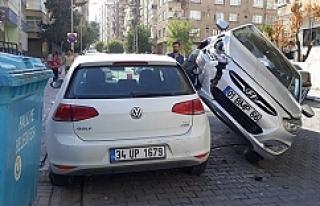 Görenleri şaşkına uğratan kaza